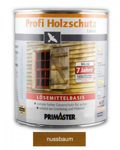 Primaster Profi Holzschutzlasur ,  nussbaum seidenglänzend, 2,5 l