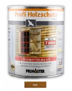 Primaster Profi Holzschutzlasur ,  teak seidenglänzend, 2,5 l