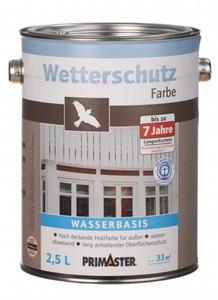 Primaster Wetterschutzfarbe schwedenrot 2,5 l