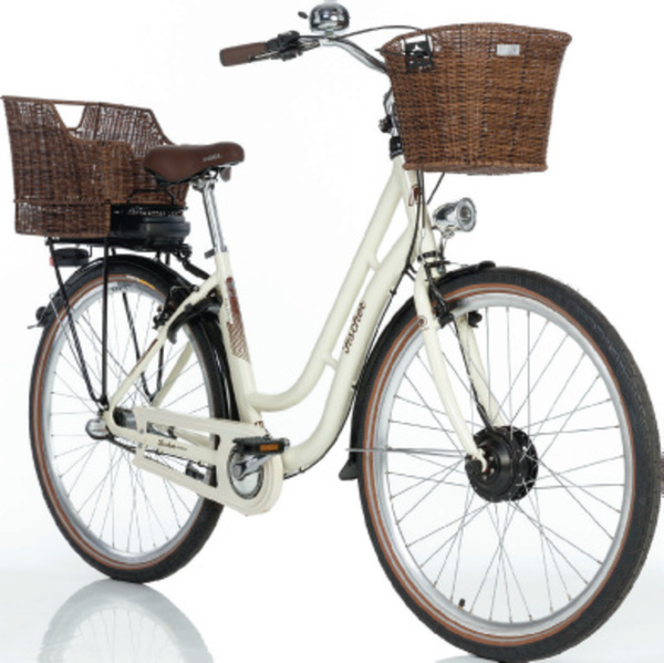FISCHER 28er Retro Alu-City E-Bike beige