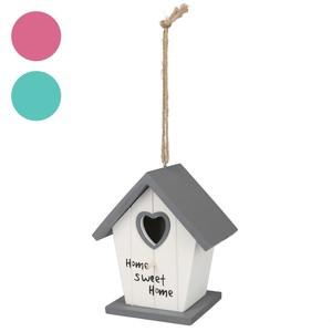 Deko-Vogelhäuschen Home Sweet Home grau