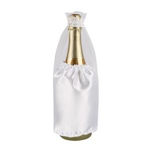 Flaschenüberzug Braut