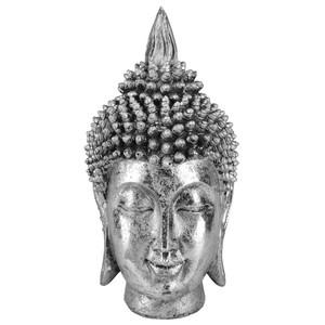 Deko-Buddhakopf silber 35 cm