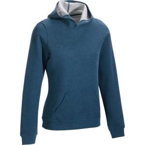 DOMYOS Sweatshirt 520 Gym & Pilates mit Kapuze Damen grau meliert, Größe: 2XS