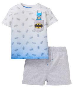 T-Shirt + Shorts - Farbverlauf, Brusttasche - 2-tlg. Set