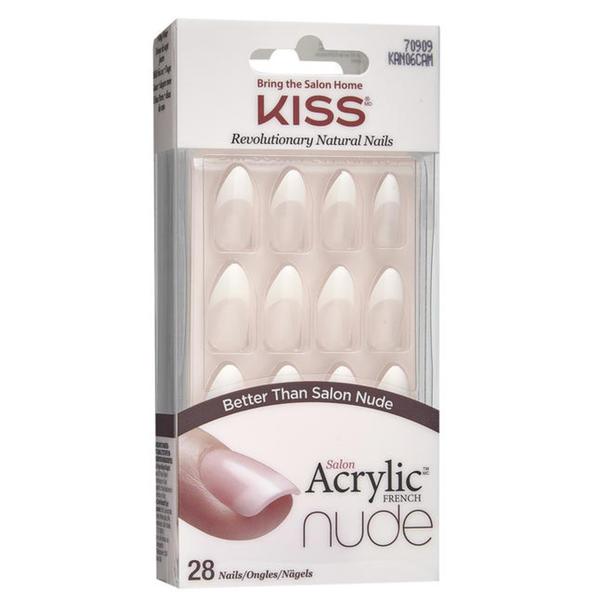 KISS Salon Acrylic French Nude selbstklebende Fingernägel Sensibility