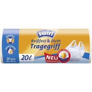 Swirl Müllbeutel Reißfest & Dicht mit Tragegrif 20 l