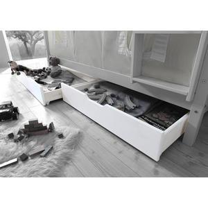 TICAA Schubkasten-Set für Etagenbetten weiß lackiert