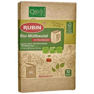 RUBIN Bio-Müllbeutel mit Standboden 10 l