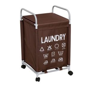 Wäschewagen Laundry Stoff Braun ca. 38 x 38 x 68 cm