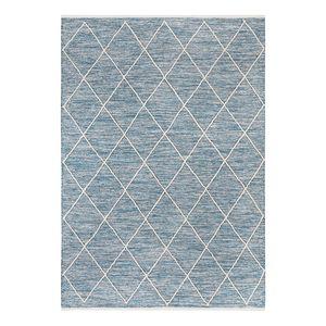 Teppich Pantin - Baumwollstoff - Mittelblau - 140 x 200 cm, Luxor living