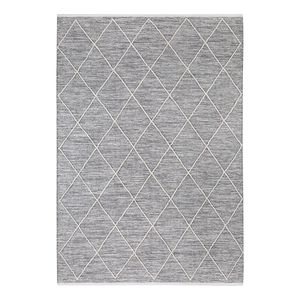 Teppich Pantin - Baumwollstoff - Lichtgrau - 140 x 200 cm, Luxor living