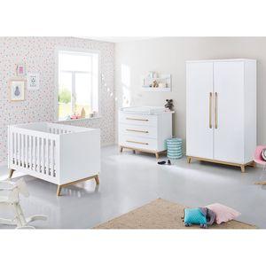 Babyzimmerset Riva Kids (3-teilig) - Weiß / Esche, Pinolino
