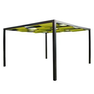 Pergola Loft - Textilene / Aluminium - Grasgrün, Leco