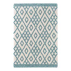 Teppich Chessy - Kunstfaser - Beige / Türkis - 120 x 170 cm, Top Square