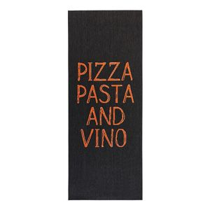 Läufer Pizza Pasta Vino - Kunstfaser - Schwarz, Zala Living