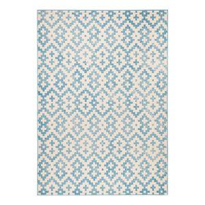 Teppich Duo - Kunstfaser - Blau / Beige - 160 x 230 cm, Zala Living