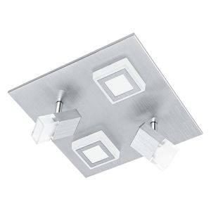 EEK A+, LED-Deckenleuchte Masiano IV - Aluminium / Kunststoff - 4-flammig, Eglo