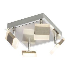 EEK A+, LED-Deckenleuchte Target II - Acrylglas / Metall - 4-flammig, Brilliant