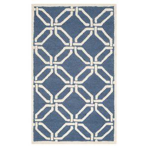 Wollteppich Mollie - Wolle - Marineblau - 121 x 182 cm, Safavieh