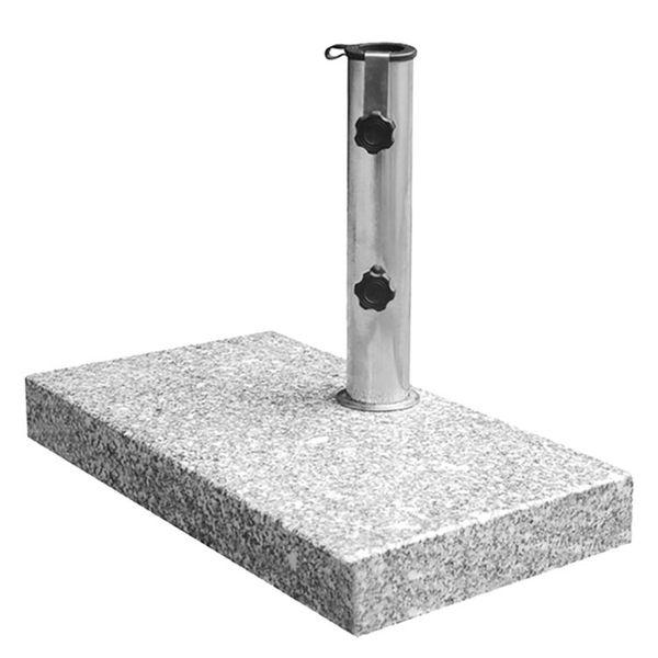 Schirmständer - Edelstahl / Granit - Chrom / Granit, Siena Garden