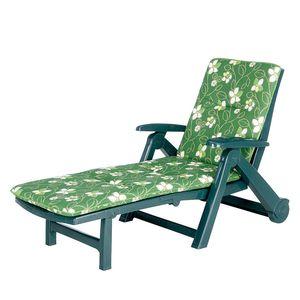 Gartenliege Charleston - Kunsstoff - Grün, Best Freizeitmöbel