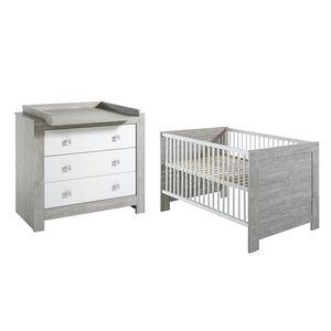 Babyzimmer-Set Nordic- Driftwood Dekor/Weiß, Schardt