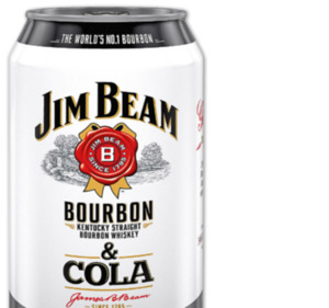 JIM BEAM Bourbon Whiskey & Cola oder Bourbon Whiskey & Cola Zero