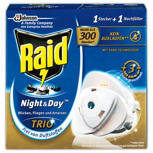 Raid Night & Day Stecker