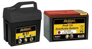 Weidezaungerät 9 Volt mit 2 Leistungsstufen + 9 Volt - Zink/Kohle - Batterie gratis dazu BlackGuard