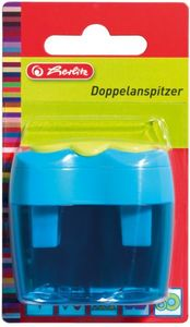 Herlitz Doppelanspitzer farbig sortiert, Doppeldosenanspitzer