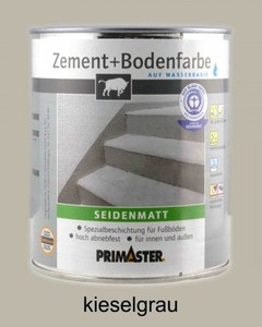 Primaster Zement + Bodenfarbe ,  kieselgrau seidenmatt, 2,5 l