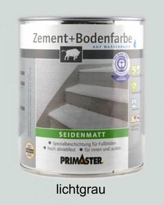 Primaster Zement + Bodenfarbe ,  lichtgrau seidenmatt, 2,5 l