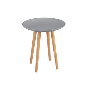 SELF Beistelltisch SIENNA Holz Grau lackiert  Ø ca. 40 cm