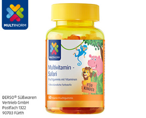 MULTINORM Multivitamin-Safari