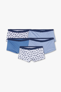 Here and There         Boxershorts - Bio-Baumwolle - 5er Pack