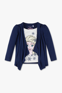 Disney Girls         Die Eiskönigin - Strickjacke - 2-in-1-Look - Glanz Effekt