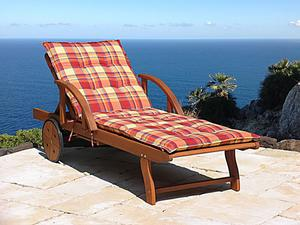 Grasekamp Kissen Gartenliege Liegestuhl  Sonnenliege Relaxliege - Sunshine
