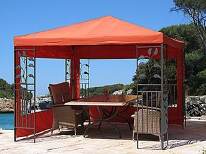 Grasekamp Blätter-Pavillon 3x3m Terra Gazebo  Gartenpavillon Gartenzelt Partyzelt
