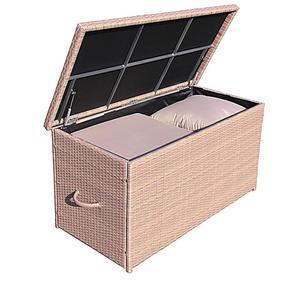 Grasekamp Rattan Kissenbox XXL Auflagenbox  Gartenbox Truhe Lounge - Braun