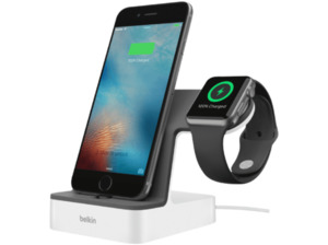 BELKIN Apple Watch + iPhone Duo Ladestation, Weiß
