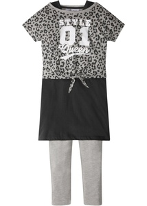 Boxy Shirt + Kleid + Leggings (3-tlg.)