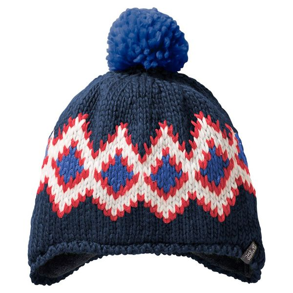Jack Wolfskin Mütze Kinder Diamond Knit Cap Kids S blau