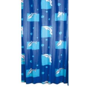 Duschvorhang Flipper Blau ca. 180 x 200 cm