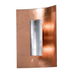 EEK A, Wandleuchte Aura Kupfer 30 cm - Metall / Glas - Kupfer / Gold - 2-flammig, Hans Kögl