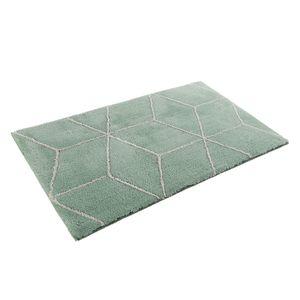 Badteppich Flair - Kunstfaser - Weiß / Mintgrün - 60 x 100 cm, Esprit Home