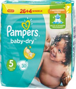 Pampers Baby Dry Gr.5 Junior 11-23kg Sparpack, 30 Windeln