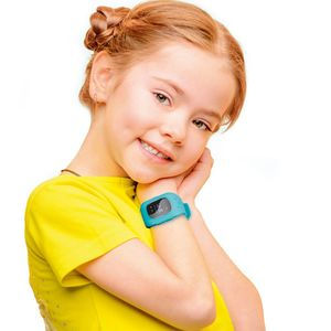 EASYmaxx Armbanduhr Kids Smart Watch OLED hellblau