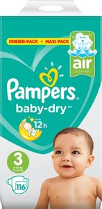 Pampers Baby-Dry Midi Gr. 3, 116 Windeln