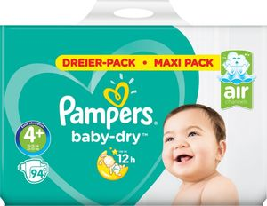 Pampers Baby-Dry Gr. 4+, 94 Windeln